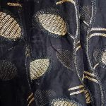 Women Designer Black Chiffon Dupatta with Golden Work