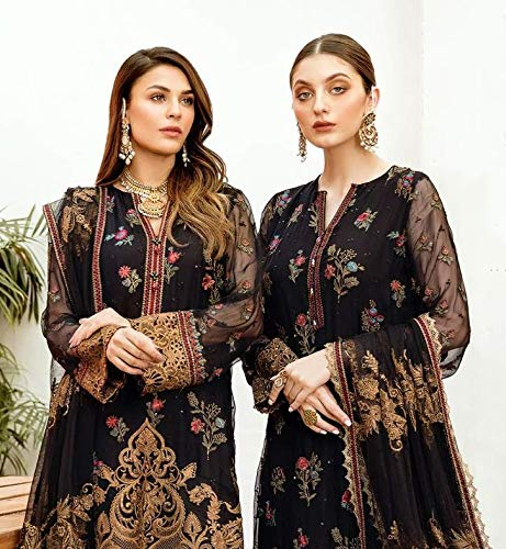 Women's Pakistani Suit with Heavy Embroidery Dress Material